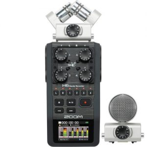 میکروفون زوم Zoom H6 Handy Recorder with Microphone | سینما کالا