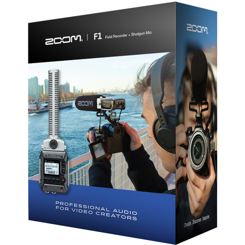 رکوردر صدا زوم Zoom F1-SP Field Recorder with Shotgun Mic