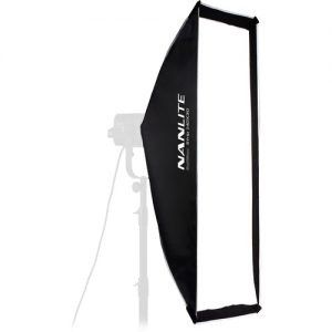 "Nanlite Asymmetrical Stripbank Softbox with Bowens Mount (18 x 43"")"